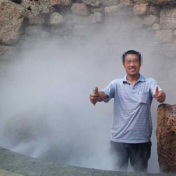 度假村景观造雾工程效果展示