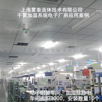电子厂房加湿案例